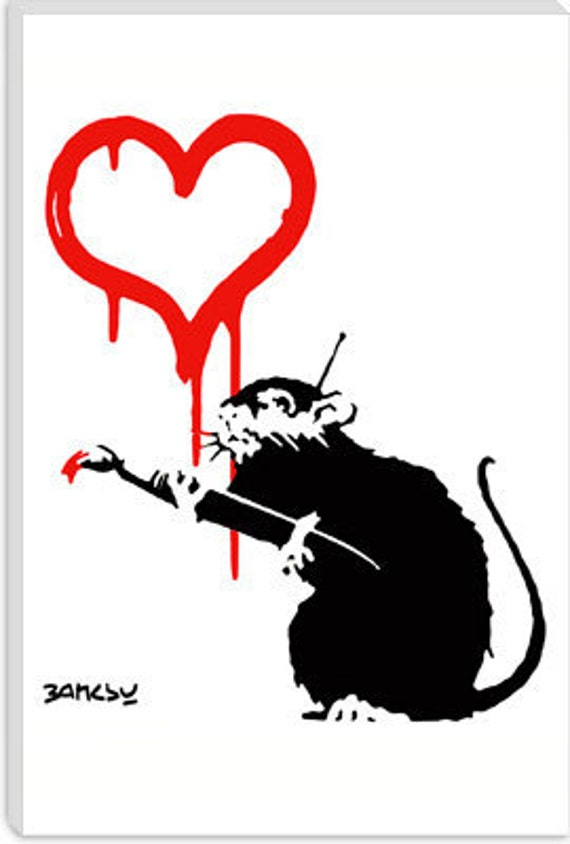 "Love Rat by Banksy (2037) 41""x27"" Thick Bars"