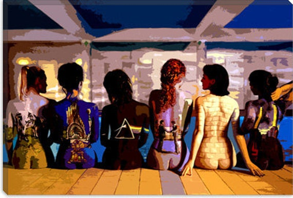 "Pink Floyd Canvas Giclee Art Print (406) 12""x8"""