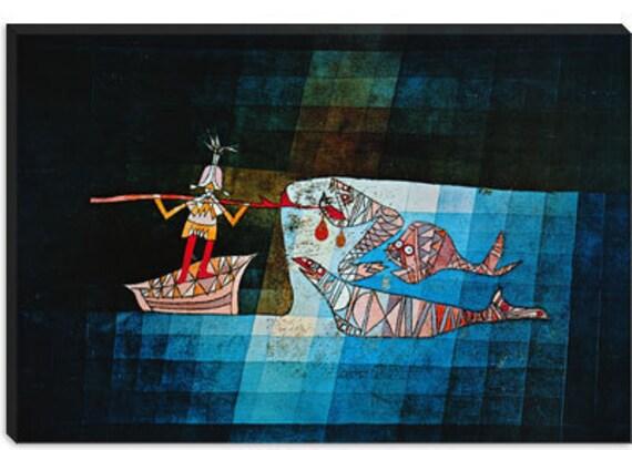 "Sinbad The Sailor by Paul Klee Canvas Art Print (1359) 12""x8"""