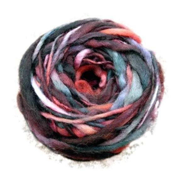 Uruguayan  rasta hand dyed hand spun yarn 2 oz (50gr) 34yds(31m)