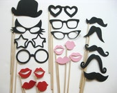 Photo Booth Props - The Wild Cat Collection - 20 piece set - Birthdays, Weddings, Parties - Photobooth Props