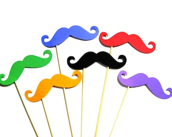 Colorful Photo Booth Props  - 6 piece set - Photobooth Props Party Props