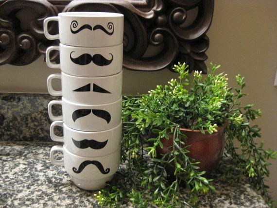 Mustaches Mug Mustache Mugs White Mustache