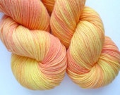 BFL Sock Yarn - Hand Dyed 75/25 BFL/Nylon Fingering Weight Yarn in Georgia Peach Colorway