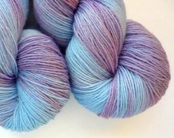 BFL Sock Yarn - Hand Dyed 75/25 BFL/Nylon Fingering Weight Yarn in Hydrangea Colorway
