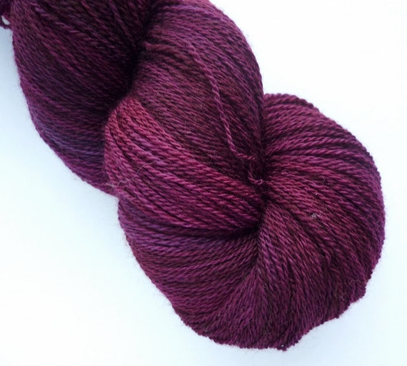 Sale 20% off - Hand Dyed Yarn - Merino Lace Weight in Sugar Plum Colorway