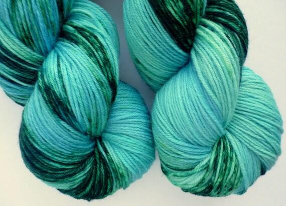 Sale 10% off - MCN Sock Yarn - Merino Cashmere Nylon Fingering Weight Yarn in Mermaid's Lagoon Colorway