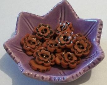Flower Brown Buttons