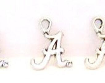 "30 pieces - Letter "" A "" Charms / Pendants - Tibetan Silver - ALABAMA"