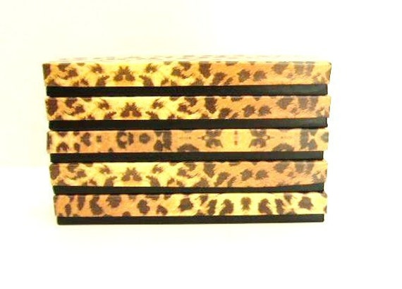 5 Leopard Print Bracelet, Necklace Boxes