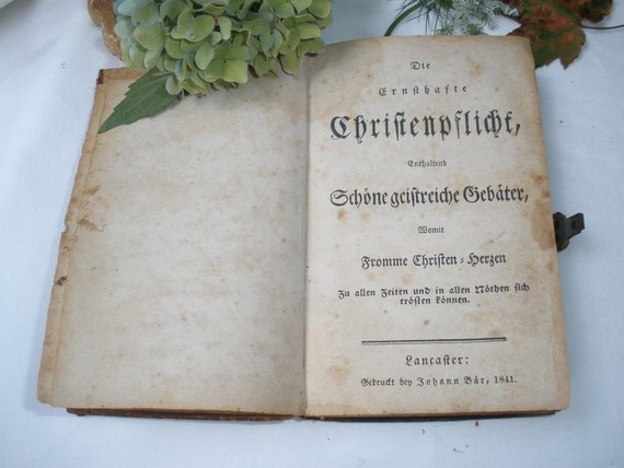1841 German Prayer Book / Book of Psalms /  170 years old ... Amazing // Free Shipping to Germany