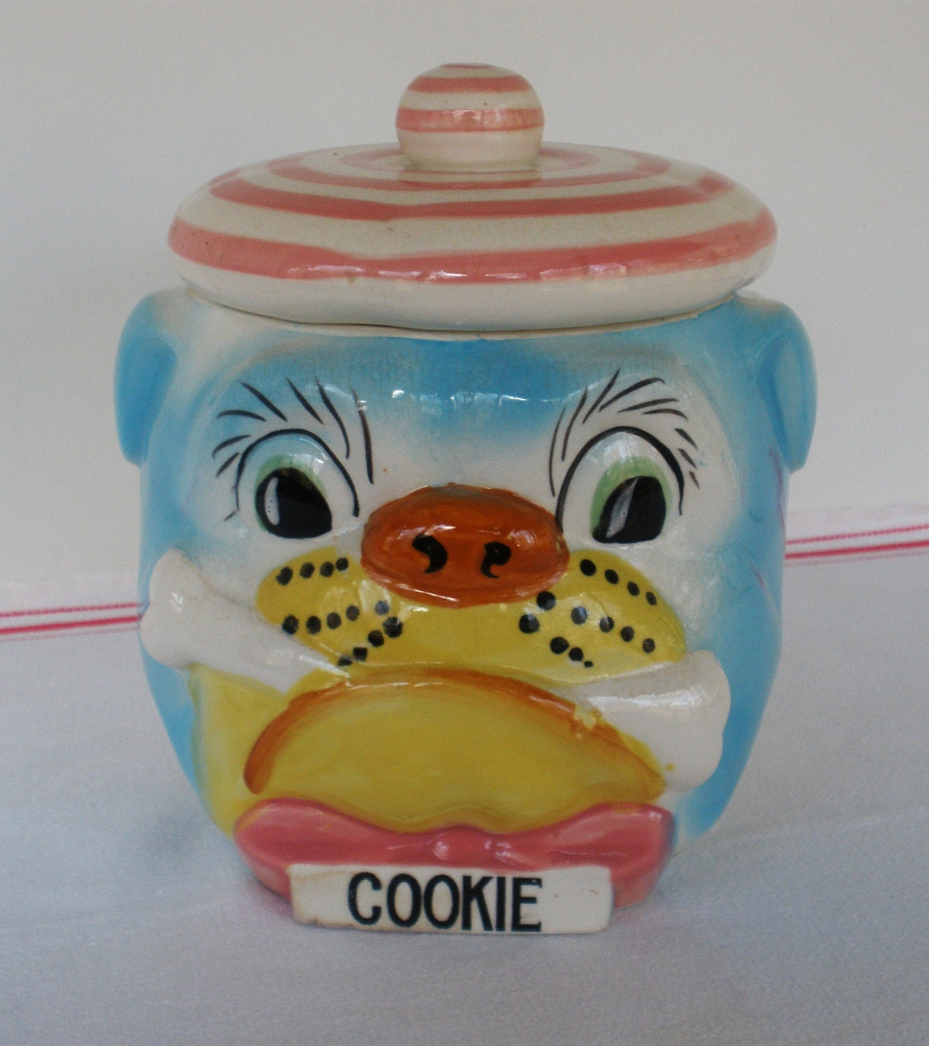Vintage 1950 39 S Bulldog Cookie Jar The Cutest Ever