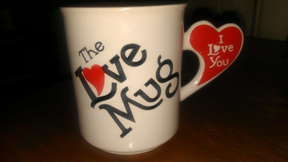 RESERVED for Ariana Valentines Day The Love Mug with Heart Shaped Handle