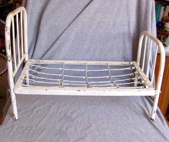 Antique Iron Bed Frame With Springs : Antique toy iron bed for a doll victorian to s with