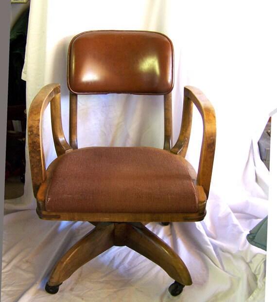 GUNLOCKE WILD modernist office desk chairMid century