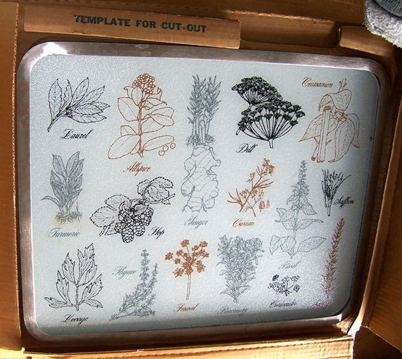 1960s Kitchen Light Up Glass Cutting Board By