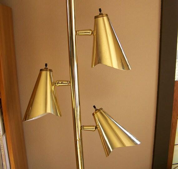 Hollywood Regency Lamp Tension Pole Floor Light Mid Century