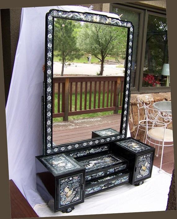 Reserved For Mandy Lloyd Inlaid Mirror Vintage