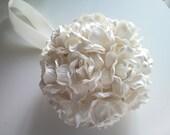 set of 8 handmade mulberry  paper flower kissing/pomander balls