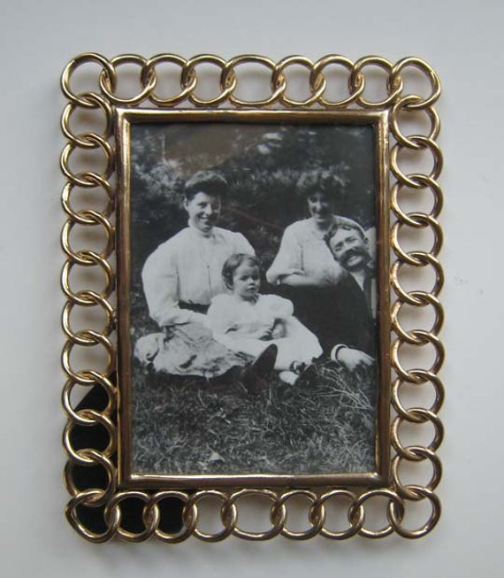 Brass Ring Photograph Frame, Photograph Frame 5x7