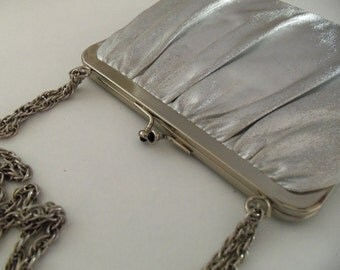 Vintage Shining Silver Evening Purse