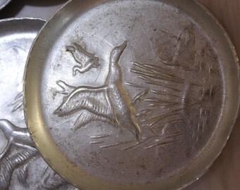 Alumium Ware  Ducks And Cattail Coasters 8