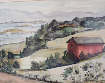 Original Watercolor By J. Rachie 1965