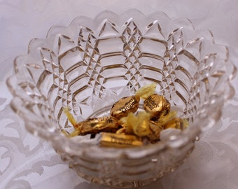 Beautiful Pressed Glass Clear Bowl