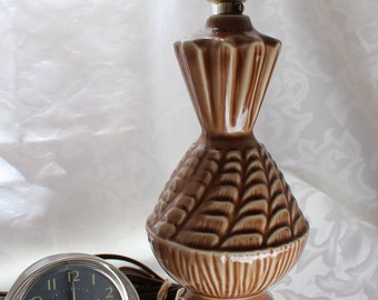 Vintage Small  Brown Table Lamp