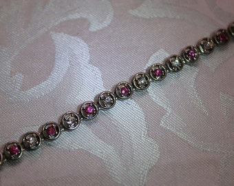 Pretty In Pink VintageTennis Bracelet