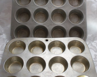 Vintage Muffin Tins Muffinaire and Comet Brands