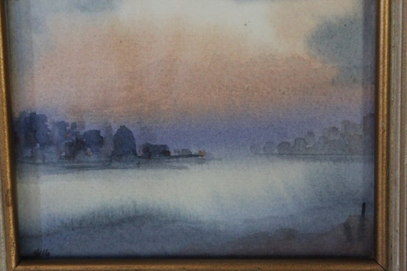 Nelle, Signed Small Watercolor Painting