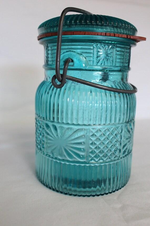 Blue Avon Canning Jar