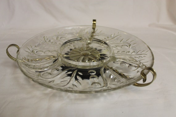 Vintage Lazy Susan Relish Tray