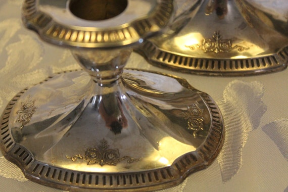 Silver plated Candle Holders