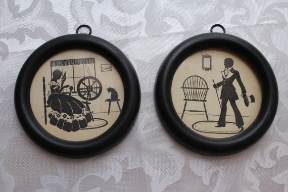 Man and Woman Silhouettes Wall Hangings