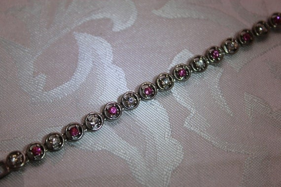 Pretty In Pink VintageTennis Bracelet