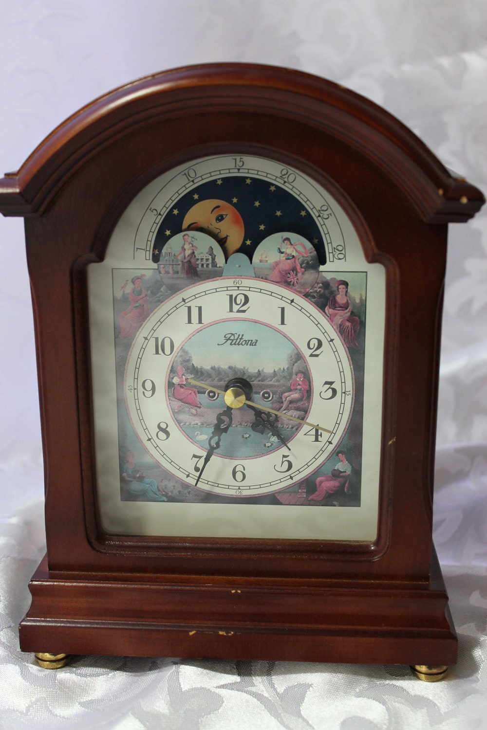Vintage Sun And Moon Mantel Clock