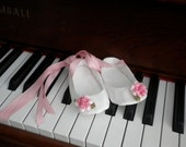 Cute White and Pink Baby Girl Shoes