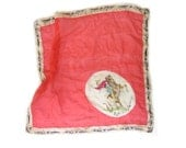 Extremely RARE 1920s/30s Silk Western Cowboy Scarf with Tee Pee Border