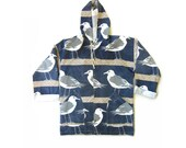 Vintage Early 90s Nautical Print Canvas Light Summer Jacket Large