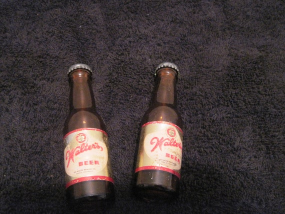 Vintage Walters Beer Salt and Pepper Shakers in the shape of a beer bottle. I do consider best offers