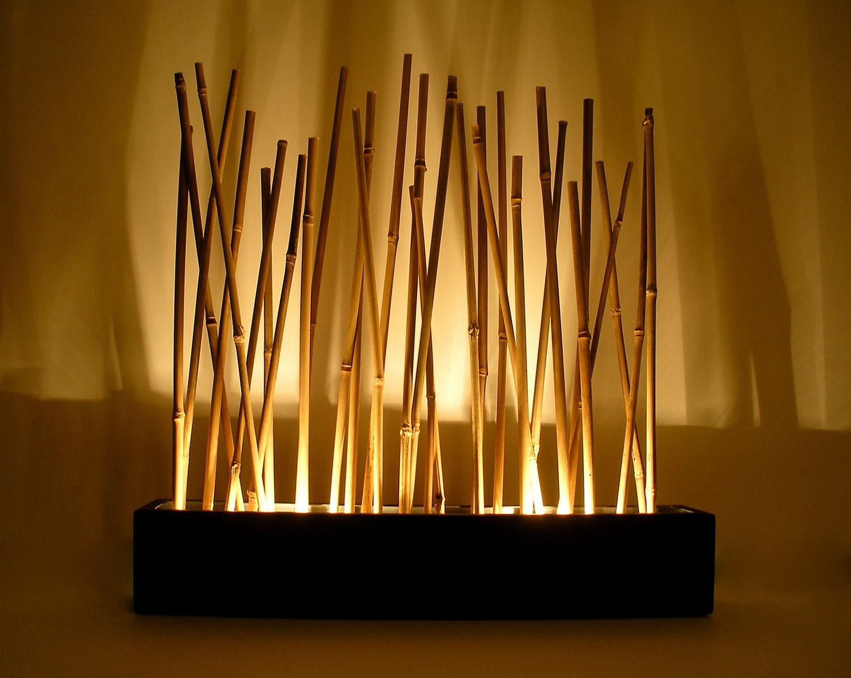 bambus stimmung lampe moderne japanischen stil tischplatte. Black Bedroom Furniture Sets. Home Design Ideas