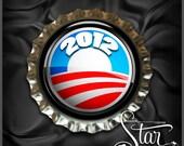 Obama 2012 Election Support Bottlecap Bracelet