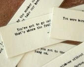Inspirational Quote bookmarks Laminated - set 2,