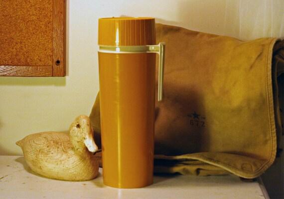 Vintage Thermos - Mustard Yellow