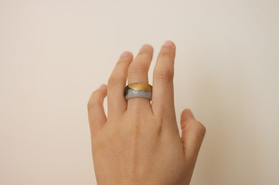 Gold Dipped Jade Ring / JR6