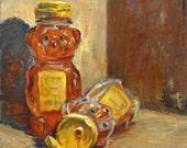 Buzzed Honey Bear Print