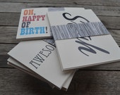 Assorted All Occasion Typography and Handstamped Postcards - Set of 10