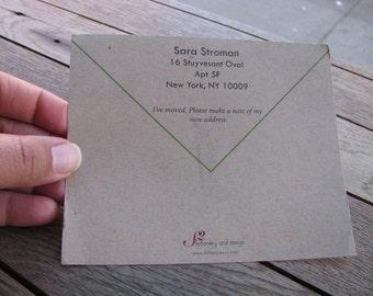 I've Moved Envelope Postcard Announcement - Set of 25